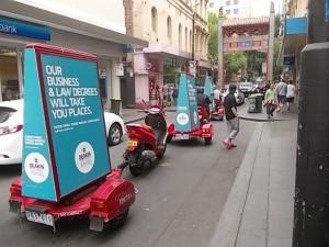 Scooter Advertising Sydney advertising in China Town, Sydney CBD